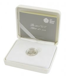 2013 Silver BU One Pound Coin - Shield for sale